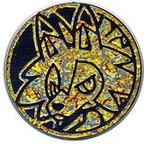 Pokemon Lycanroc (Dusk Form) Collectible Coin (Orange Frosted Holofoil)_