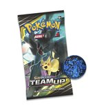 Pokémon Sun & Moon Team Up - 3 Booster Packs, Munt & Ultra Necrozma kaart_