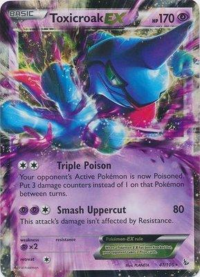 Toxicroak EX // Pokémon kaart