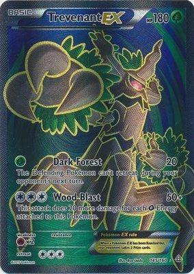 Trevenant EX Full Art - Ultra Zeldzame Pokémon kaart
