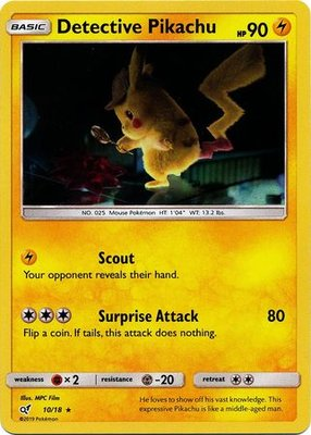 Detective Pikachu - 10/18 - Holo - Detective Pikachu Series