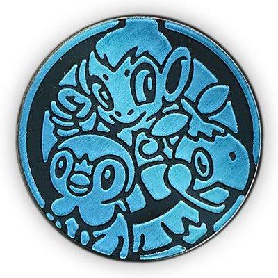 Pokemon Sinnoh Region Starters Collectible Coin (Blue Matte Holofoil)