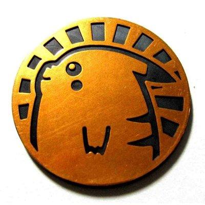 Pokemon Pikachu 2005 Collectible Coin (Bronze Mirror Holofoil)