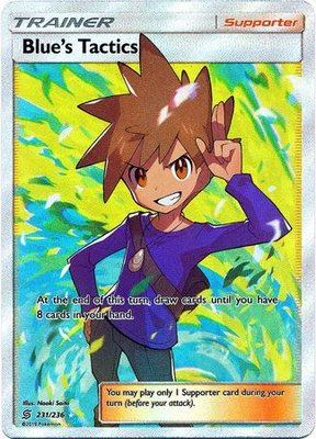 Blue's Tactics Full Art [Unified Minds] // Pokémon kaart Rosé
