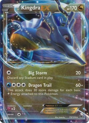 Kingdra EX // Pokémon kaart