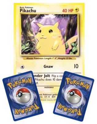 Pikachu Base Set  // Oversized Pokémon kaart