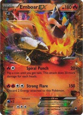 Emboar EX // Pokémon kaart