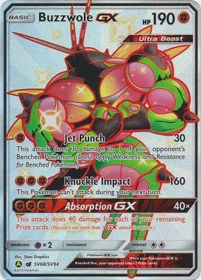 Buzzwole [SHINY GX] Full Art Ultra Rare Pokemon Kaart