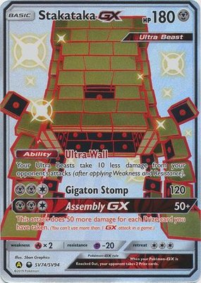 Stakataka [SHINY GX] Full Art Ultra Rare Pokemon Kaart