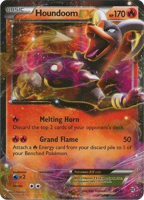 Houndoom EX // Pokémon kaart