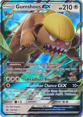 Gumshoos GX // Pokémon kaart
