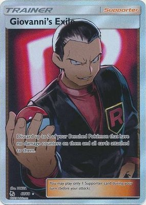 Giovanni's Exile Full Art // Pokémon kaart