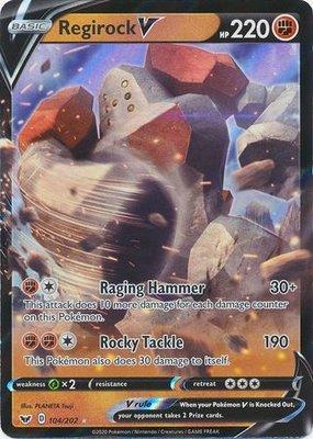 > Regirock V // Pokémon kaart