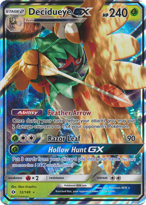 Decidueye GX Pokémon kaart