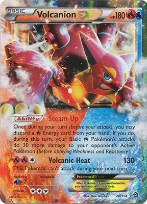 Volcanion EX // Pokémon kaart