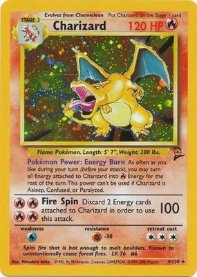 Charizard - 4/130 - Holo (Base set 2)