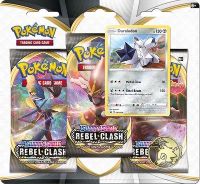 Pokémon Sword & Shield Duralulon - 3 Boosters met Coin & Duralulon zeldzame en glimmende kaart