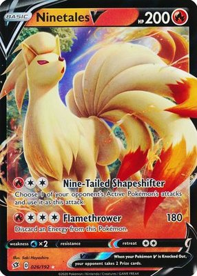 > Ninetales V // Pokémon kaart