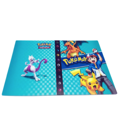 Pikachu & Ash Aqua (met Charizard en Mewtwo) verzamelmap