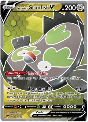 > Galarian Stunfisk V Full Art // Pokémon kaart