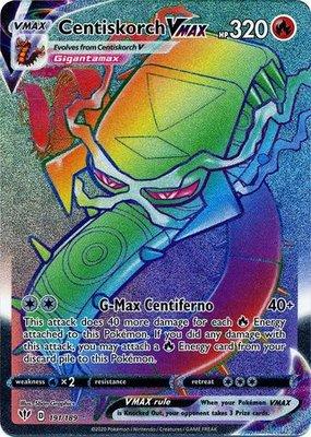 >> Centiskorch VMAX Hyper Rare (Rainbow) // Pokémon kaart
