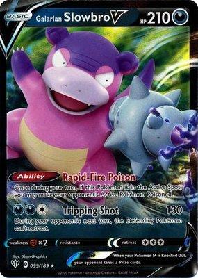 > Galarian Slowbro  V // Pokémon kaart