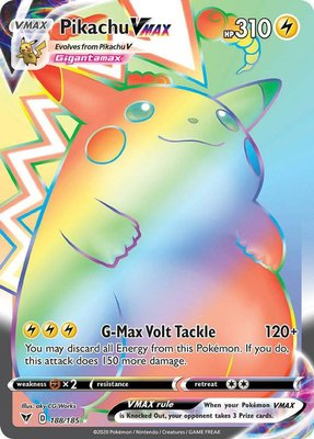 >> Pikachu VMAX Hyper Rare (Rainbow) // Pokémon kaart