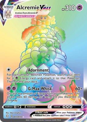 >> Alcremie VMAX Hyper Rare (Rainbow) // Pokémon kaart