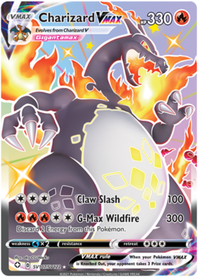 >> Shiny Charizard VMAX // Pokémon kaart