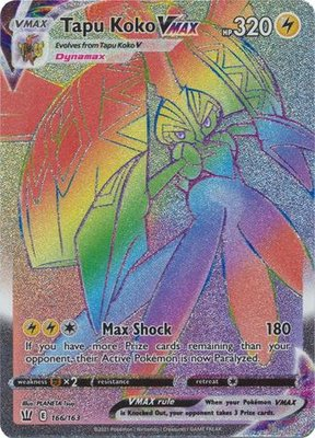 >> Tapu Koko VMAX Hyper Rare (Rainbow) // Pokémon kaart