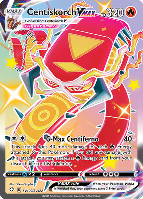 >> Centiskorch VMAX Shiny Rare // Pokémon kaart