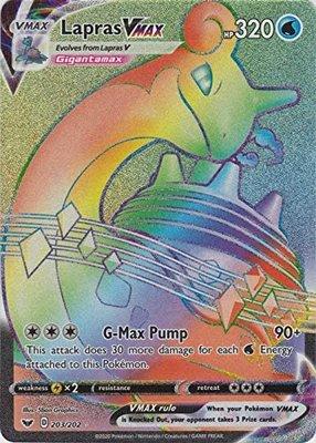 >> Lapras VMAX Hyper Rare (Rainbow) // Pokémon kaart