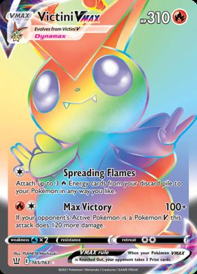 >> Victini VMAX Hyper Rare (Rainbow) // Pokémon kaart