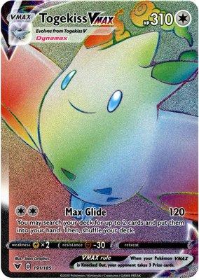 >> Togekiss VMAX Hyper Rare (Rainbow) // Pokémon kaart