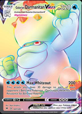 >> Galarian Darmanitan VMAX Hyper Rare (Rainbow) // Pokémon kaart