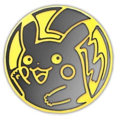Pokemon Pikachu (Waving) Collectible Coin (Yellow & Silver)