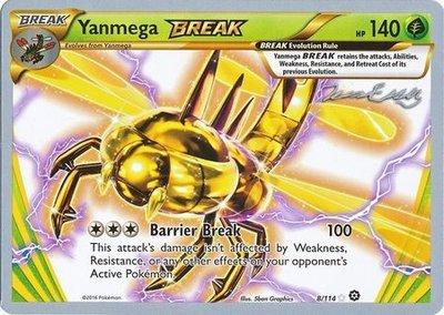 Yanmega Break Pokémon kaart (2016)