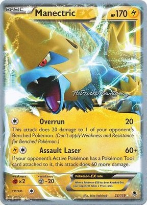 Manectric EX Pokémon kaart (2015 World Championship Card)