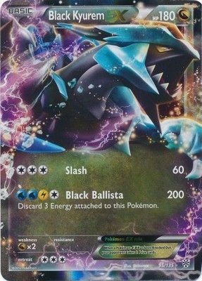 Black Kyurem EX // Pokémon kaart