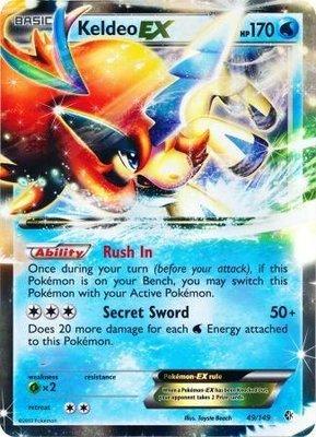 Keldeo EX // Pokémon kaart