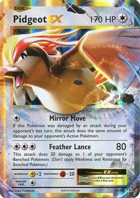 Pidgeot EX // Pokémon kaart