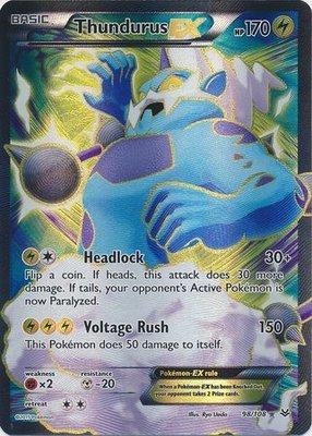 Thundurus EX Full Art - Ultra Zeldzame Pokémon kaart