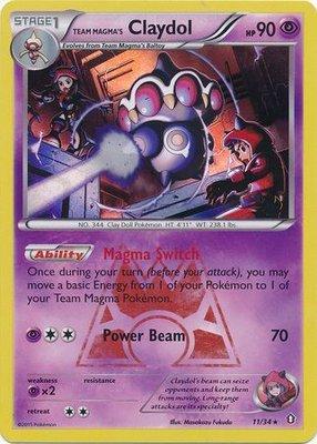 Team Magma's Claydol - 11/34 - Holo Rare