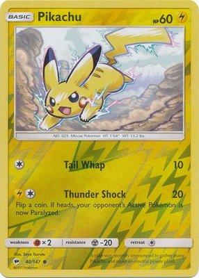 Pikachu - 40/147 - Common Reverse Holo