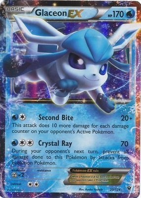 Glaceon EX // Pokémon kaart