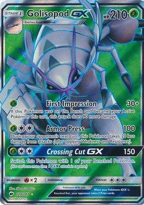 Golisopod GX Full Art // Pokémon kaart