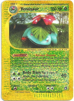 Venusaur Foil Box Topper uit 2002 // Pokémon kaart (oversized)