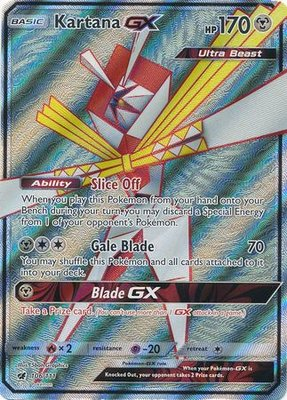 Kartana GX Full Art (ULTRA BEAST) - Ultra Zeldzame Pokémon kaart