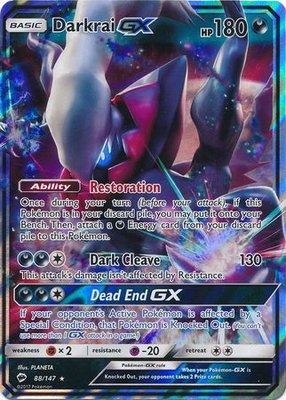 Darkrai GX // Pokémon kaart
