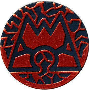 Pokemon Team Magma Collectible Coin (Rood)